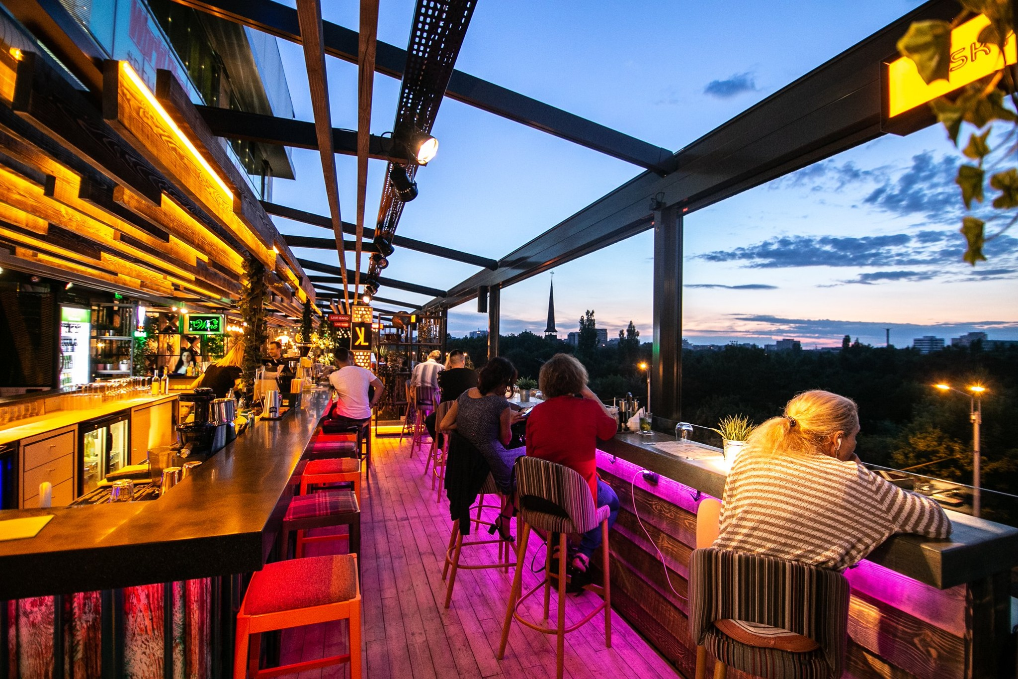 sky bars & rooftops in Bucharest